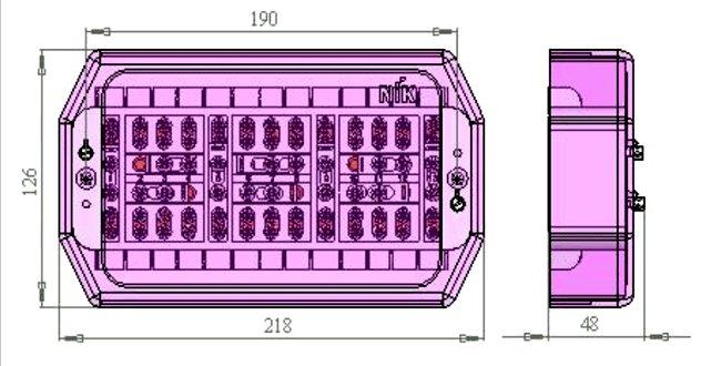 Габаритные и установочные размеры НіК КП125