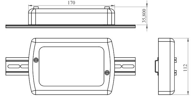 Габаритные и установочные размеры НіК КП25