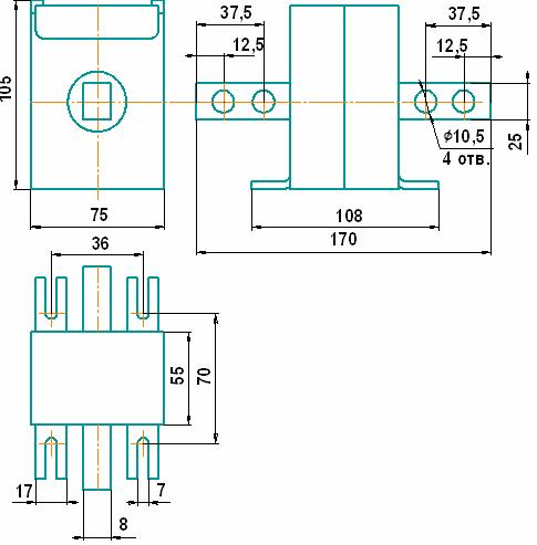 трансформатор Т-0,66 с первичным током 600 А.